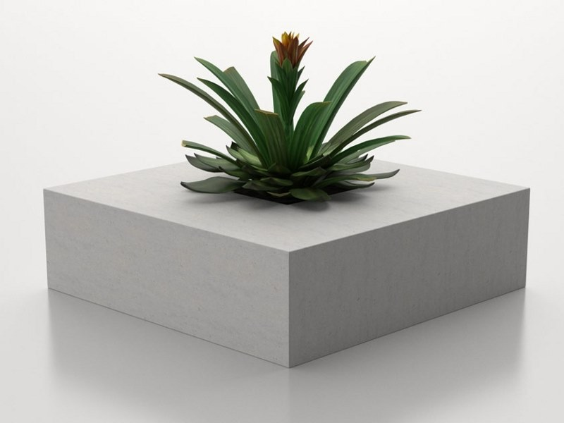 Low square Flower pot SQUARE (200) | Flower pot by Sit