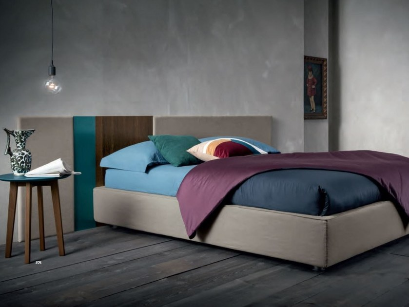 Upholstered fabric headboard SQUARE by Dall'Agnese