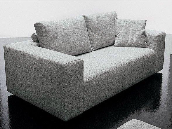 2 seater fabric sofa SQUARE | 2 seater sofa by Diemme