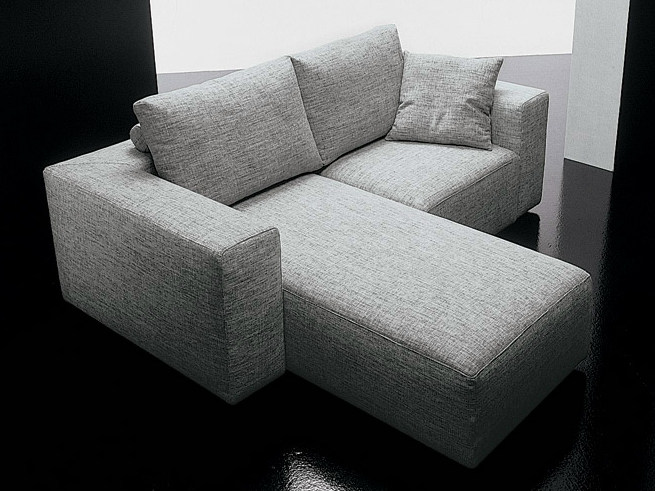 2 seater fabric sofa SQUARE | Sofa with chaise longue Square ...