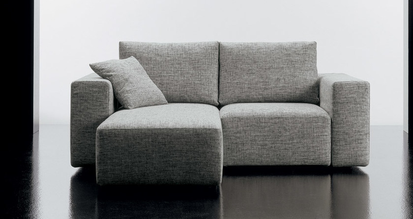 Divano in tessuto a 2 posti SQUARE | Divano con chaise longue - Diemme
