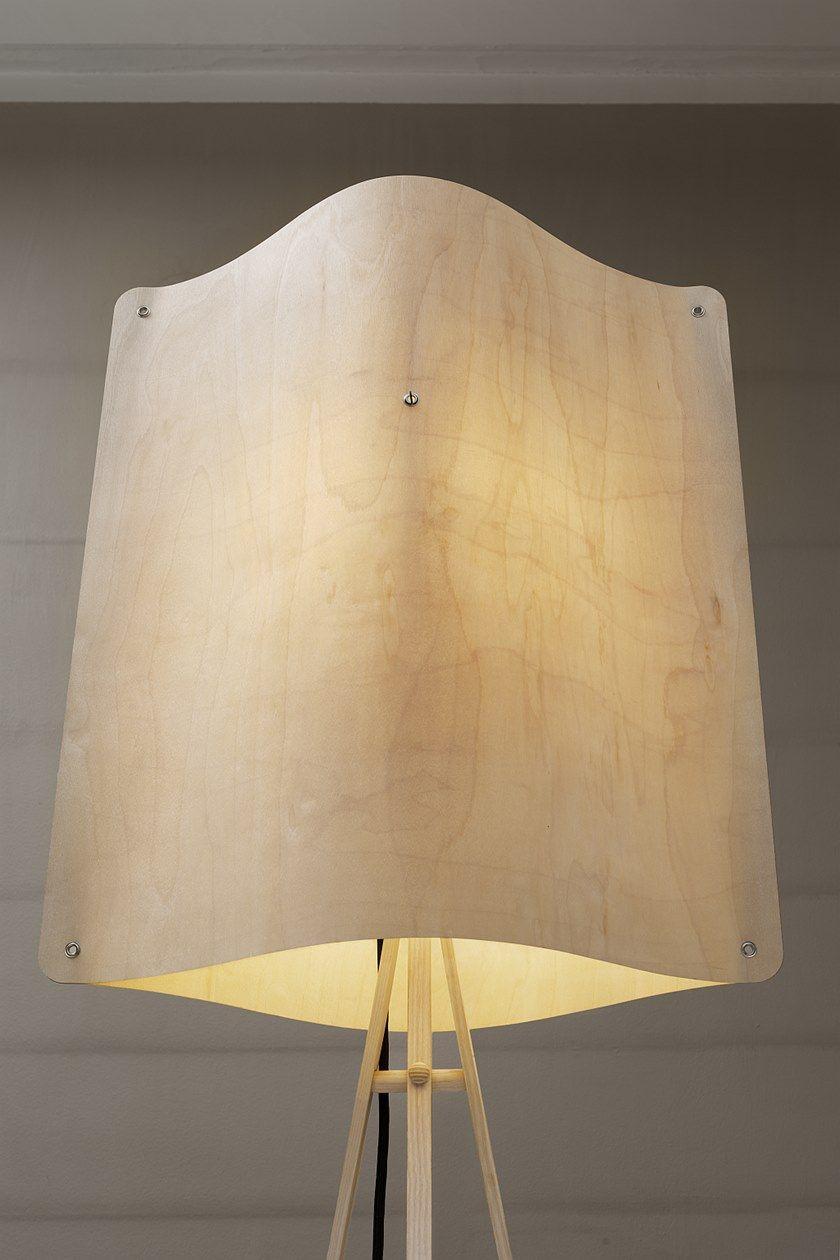 8f61477d4e9e4 LED multi-layer wood floor lamp SQUARE FLOOR LARGE By Finom Lights design Esa  Vesmanen