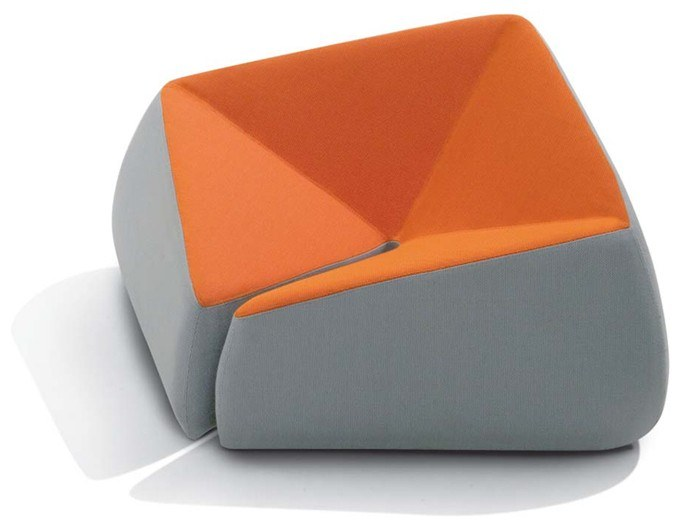 Upholstered fabric armchair with removable cover SQUARE by Felicerossi