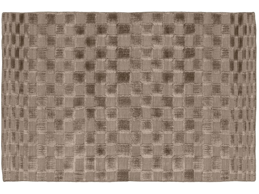 Rectangular silk rug with geometric shapes SQUARE by GIORGETTI