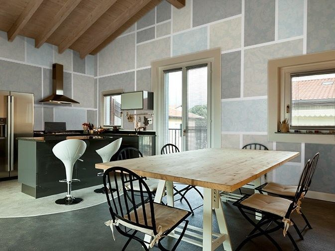 Geometric vinyl wallpaper SQUARE by GLAMORA
