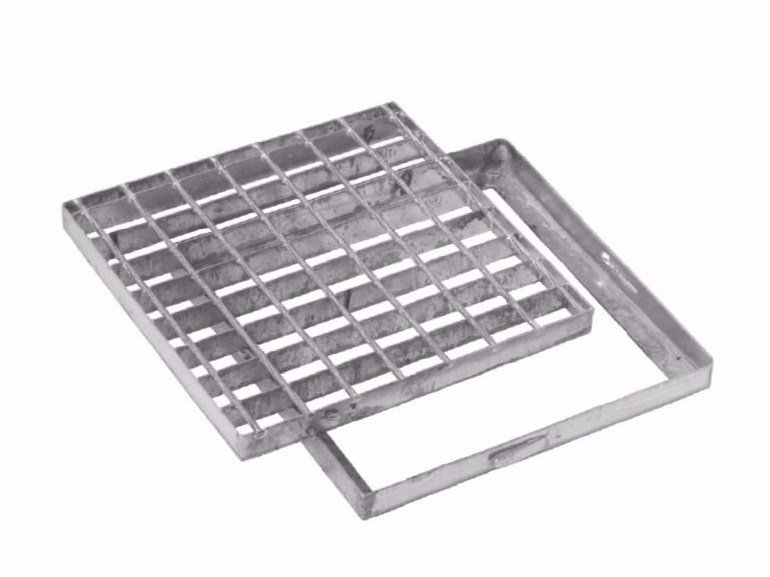 Manhole cover and grille for plumbing and drainage system SQUARE GRATING WITH FRAME by Dakota