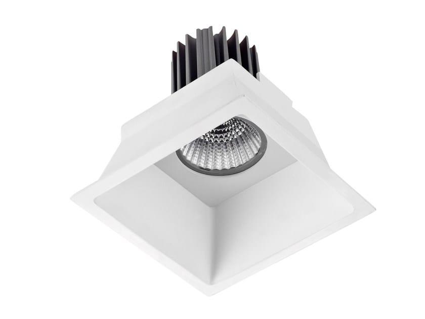 LED square recessed aluminium spotlight SQUARE by LED BCN