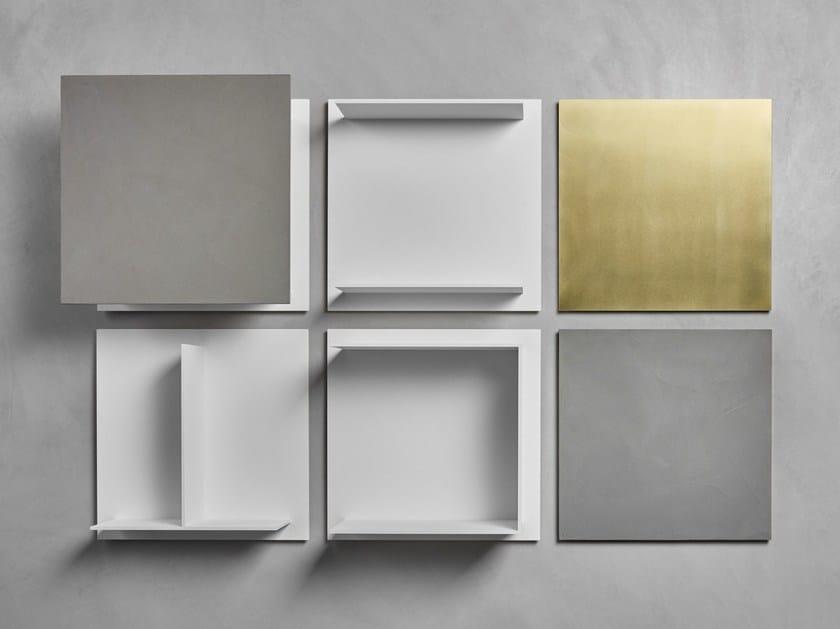 Libreria a parete componibile sospesa in Fenix-NTM® SQUARE by MDF Italia