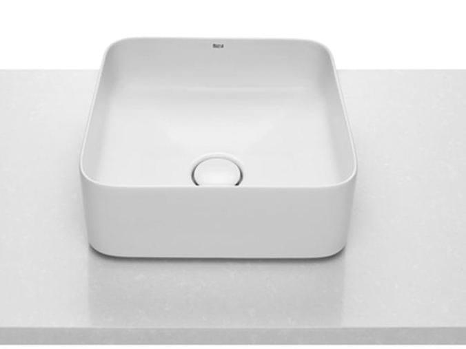 Lavabo da appoggio quadrato in ceramica SQUARE   Lavabo by ROCA SANITARIO