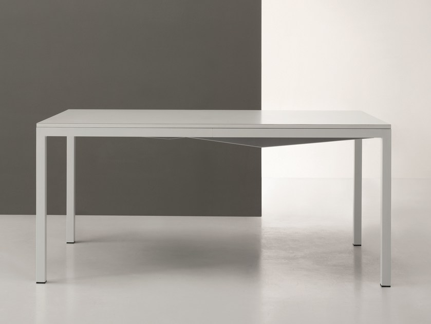 Table with metal structure SQUARE | Extending table by De Rosso