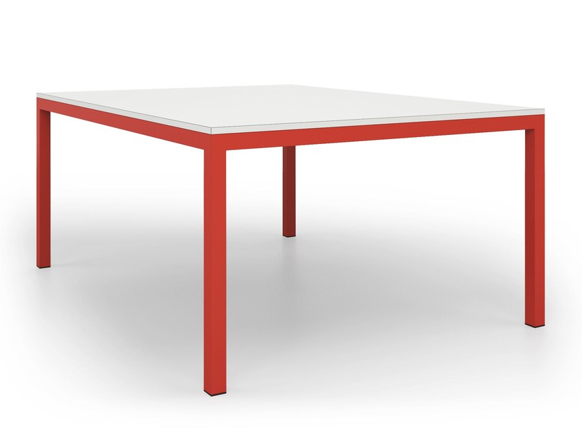 Table with metal structure SQUARE | Square table by De Rosso