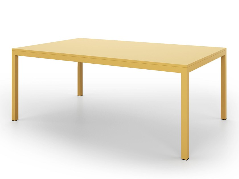 Table with metal structure SQUARE | Rectangular table by De Rosso