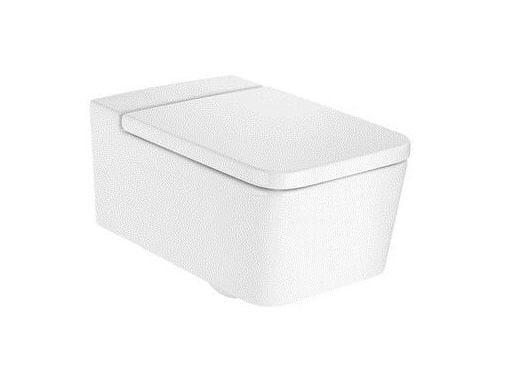 Wall-hung ceramic toilet SQUARE | Toilet by ROCA SANITARIO