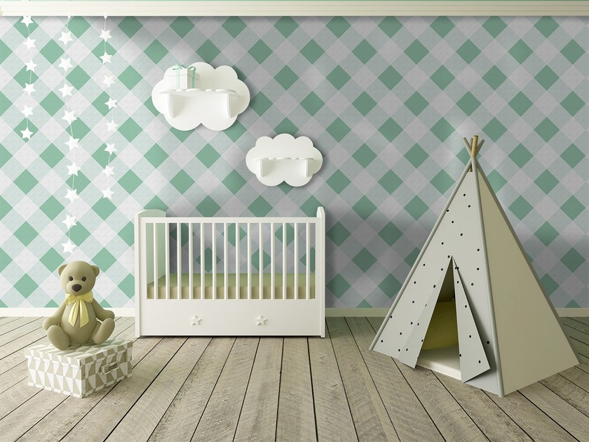 Check adhesive washable wallpaper SQUARES by Wall LCA