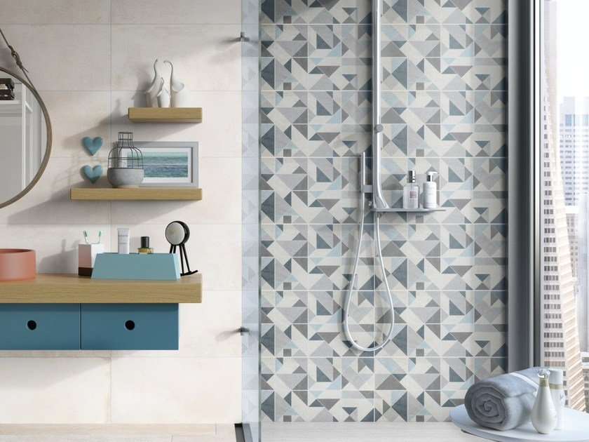 Porcelain stoneware wall tiles SQUARY by Ceramica Rondine