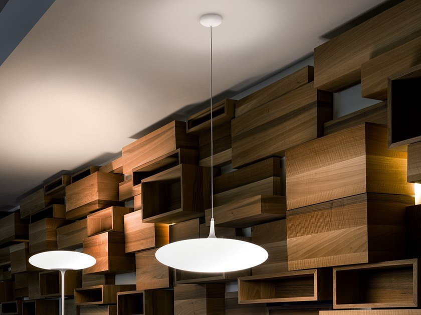 Lampada a sospensione a LED in polietilene SQUASH_P by Linea Light Group