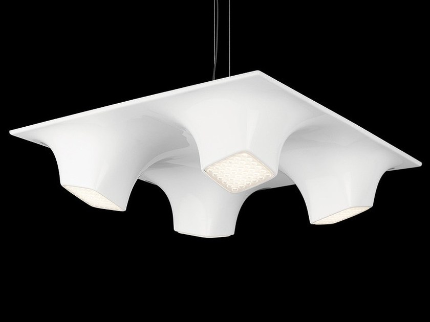 LED PMMA pendant lamp SQUEEZE 4 by Nimbus