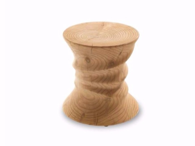Cedarwood stool SQUEEZE by Riva 1920