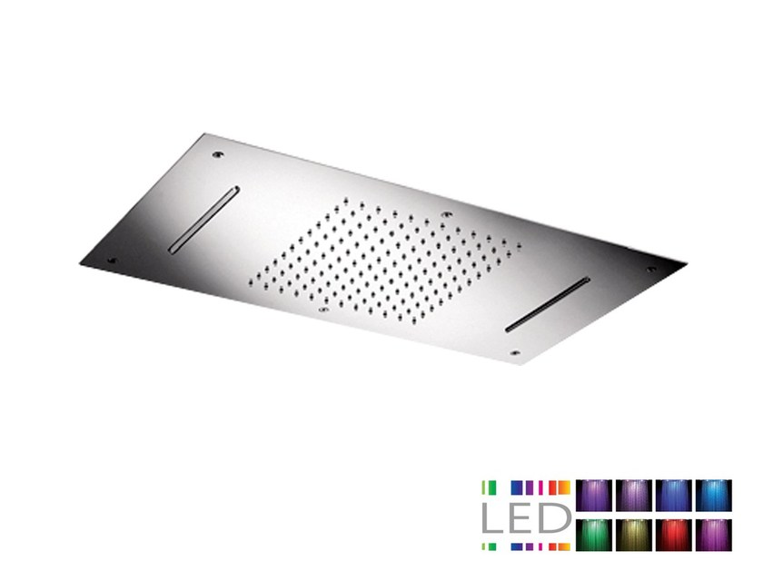 LED built-in stainless steel overhead shower with chromotherapy SRL-06 | Overhead shower with chromotherapy by Rubinetterie Mariani