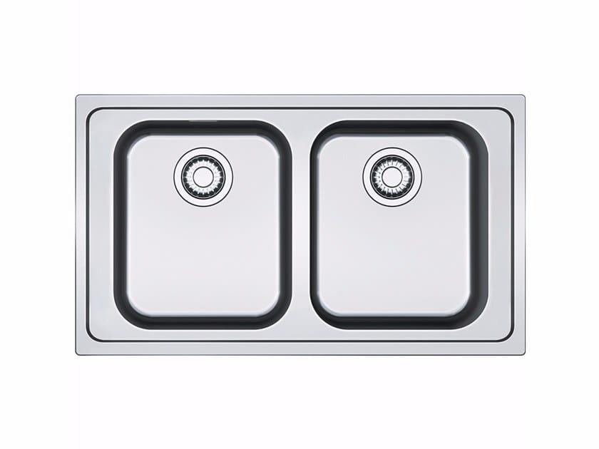 Lavello a 2 vasche da incasso in acciaio inox SRX 620-86 by FRANKE
