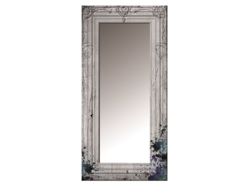 Rectangular framed glass-fibre mirror SS-01F by MOMENTI