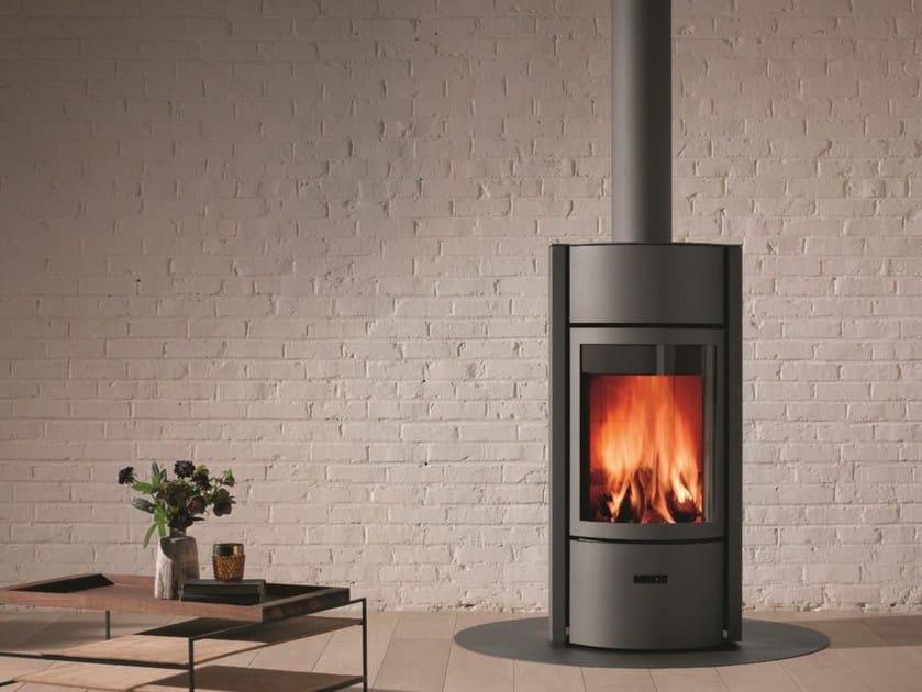 Wood-burning swivel stainless steel stove STÛV 30 by Stûv