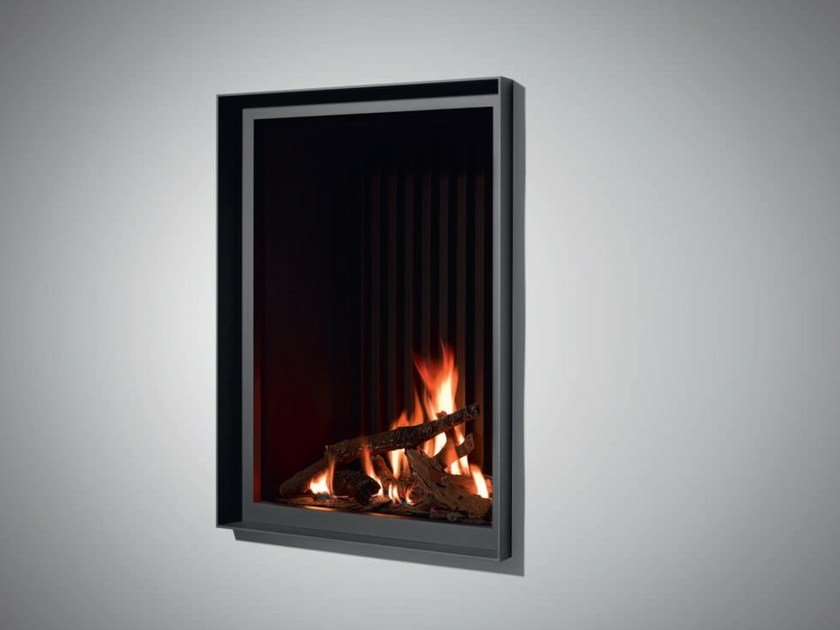 Gas wall-mounted steel fireplace STÛV B-60 PB by Stûv