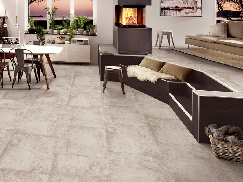 PVC flooring with stone effect ST 960 by PROJECT FLOORS