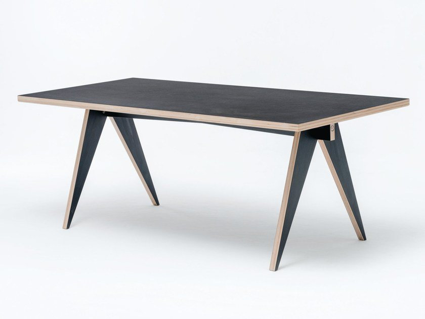 Rectangular HPL dining table ST CALIPERS BD by ST FURNITURE
