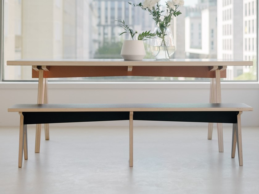 Wood-product bench ST CALIPERS | Bench by ST FURNITURE