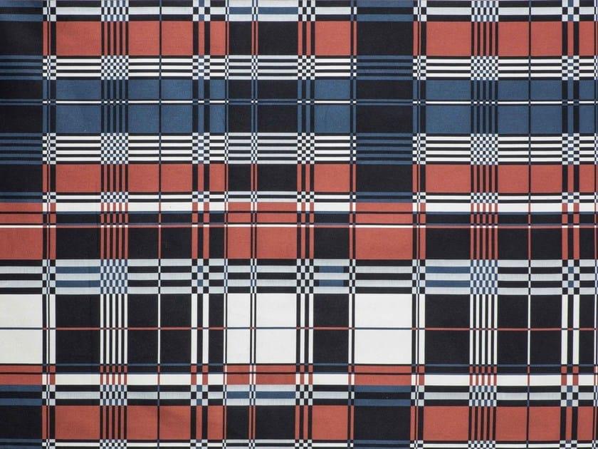 Check jacquard upholstery fabric ST JEAN DE LUZ by LELIEVRE