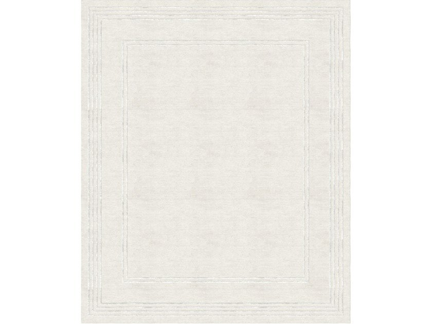 Handmade rectangular rug STACCATO by Tapis Rouge