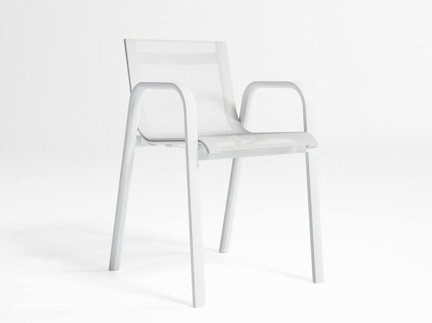 Stackable Batyline® garden chair with armrests STACK | Chair by GANDIA BLASCO