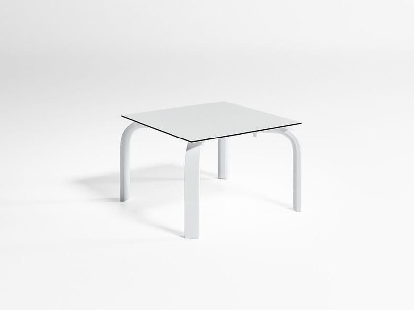 Tavolino da giardino impilabile quadrato in alluminio STACK | Tavolino quadrato by GANDIA BLASCO