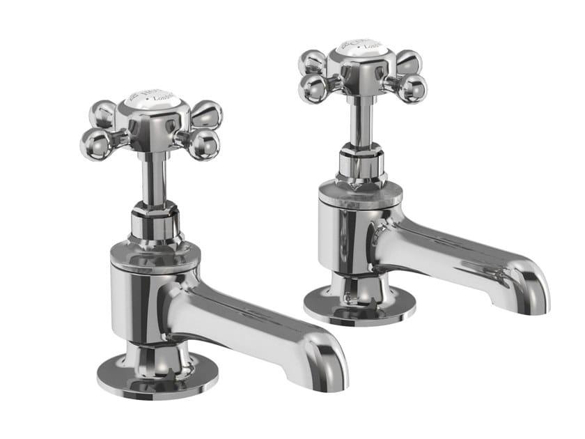 Robinet pour baignoire 2 trous avec rosaces individuelles STAFFORD | Robinet pour baignoire by Burlington Bathrooms