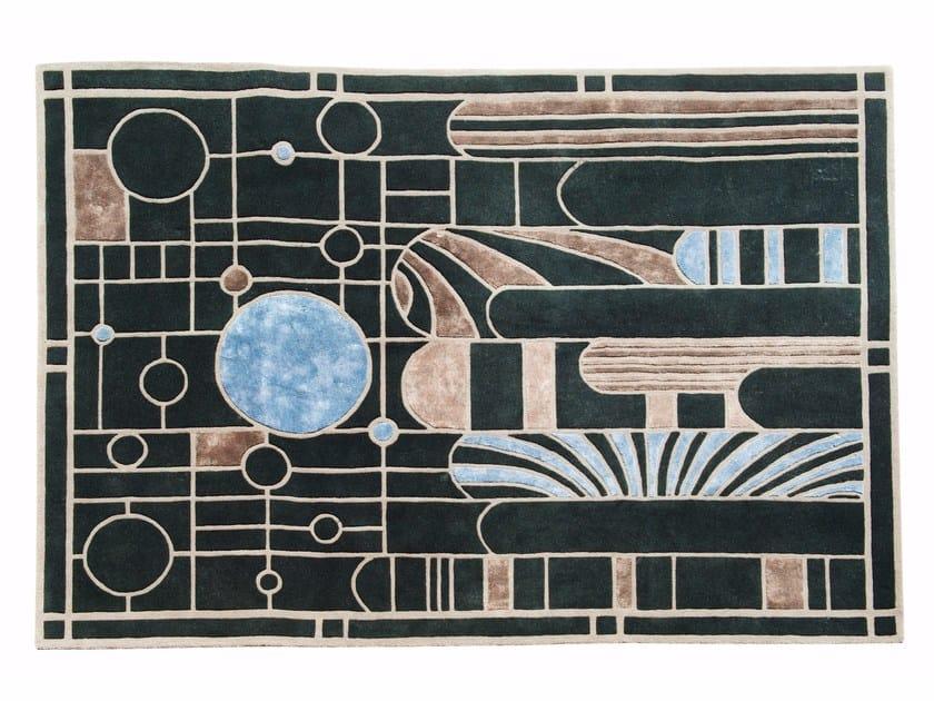 Patterned handmade rectangular rug STAIN GLASS by ROCHE BOBOIS