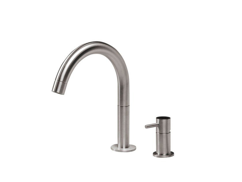 2 hole countertop washbasin mixer STAINLESS | 2 hole washbasin mixer by rvb