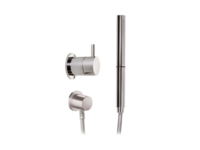 2 hole shower mixer with hand shower STAINLESS | Shower mixer with hand shower by rvb