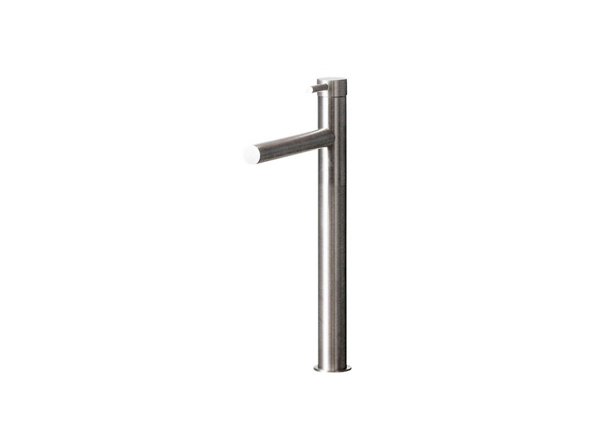 Countertop single handle 1 hole washbasin mixer STAINLESS   Single handle washbasin mixer by rvb