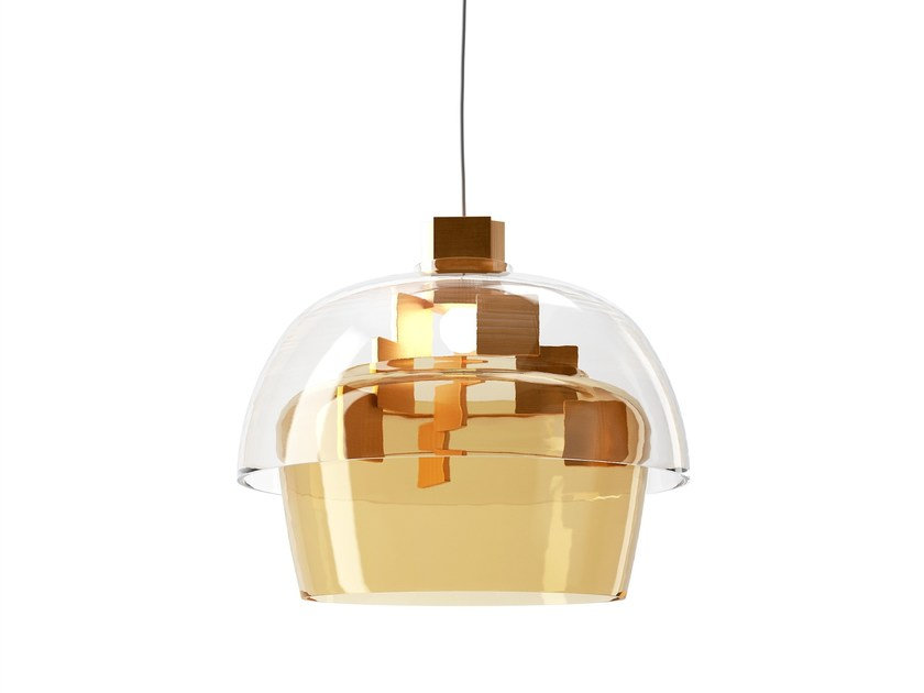 Blown glass pendant lamp STAIRS by Lasvit