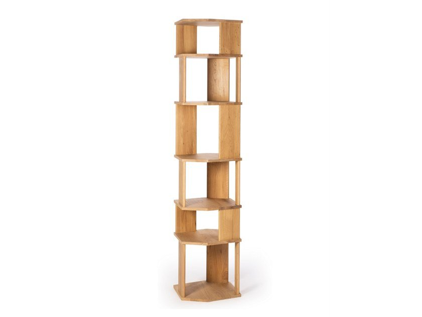 Open freestanding oak bookcase STAIRS OAK | Freestanding bookcase by Ethnicraft