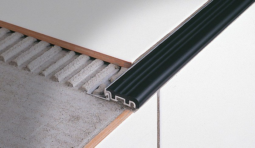 Clip System Stair Nosing Profile For Ceramic Laid Steps STAIRTEC FS By  PROFILITEC