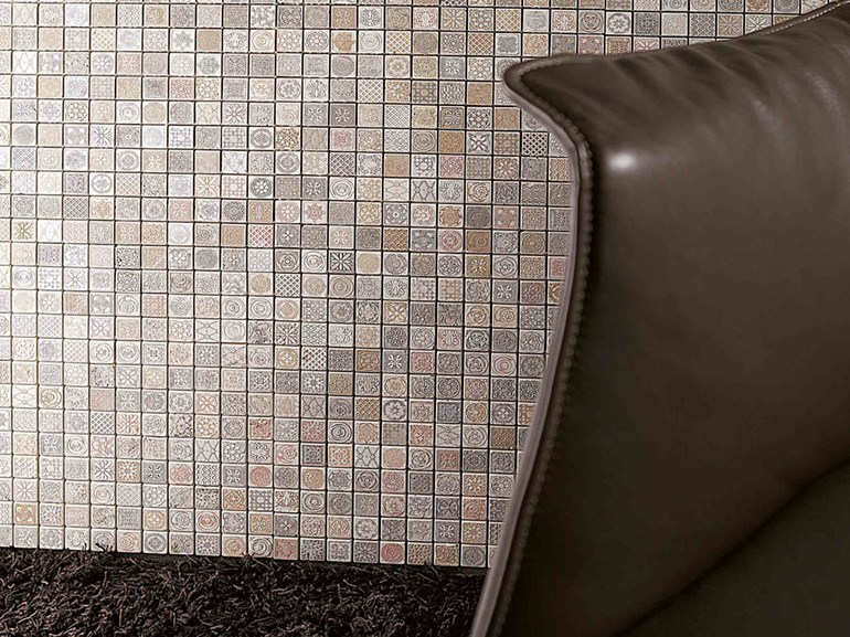 Marble mosaic STAMP 15 by Lithos Mosaico Italia