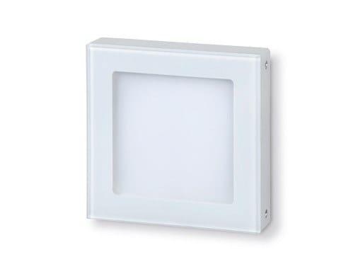 LED wall-mounted aluminium steplight STAMP Opal by Goccia Illuminazione