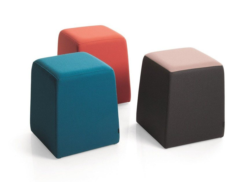 Upholstered fabric pouf STAND BY | Pouf by Emmegi