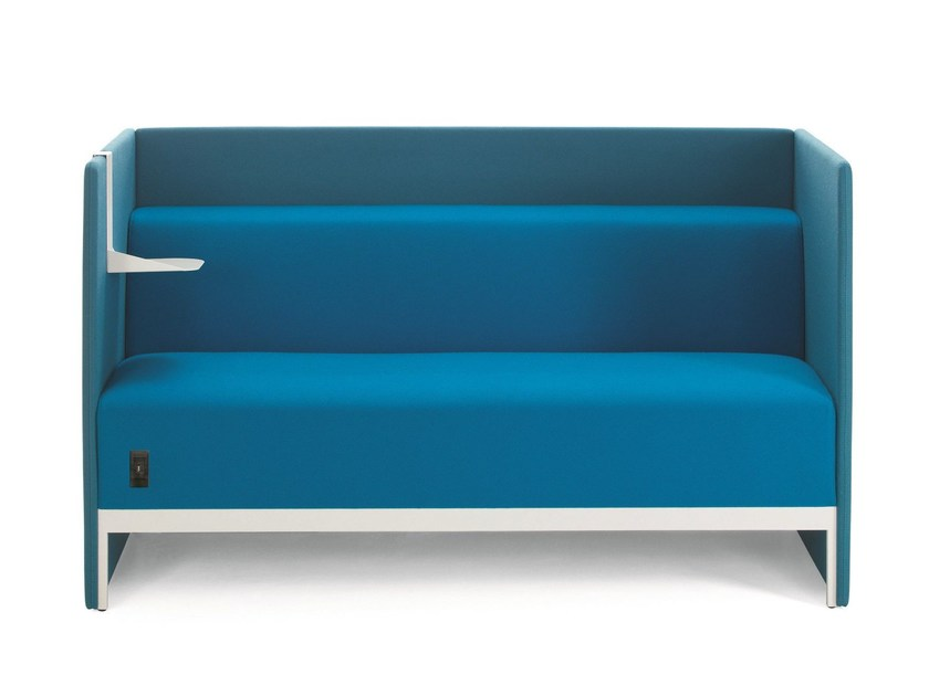 Sectional high-back fabric sofa STAND BY | Sectional sofa by Emmegi