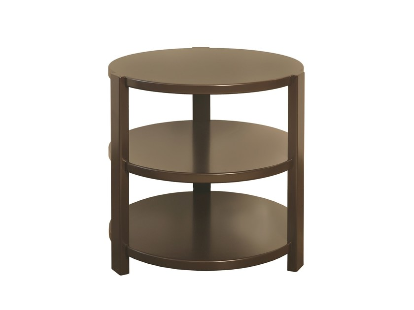 Lacquered MDF side table with storage space STAND by Branco sobre Branco