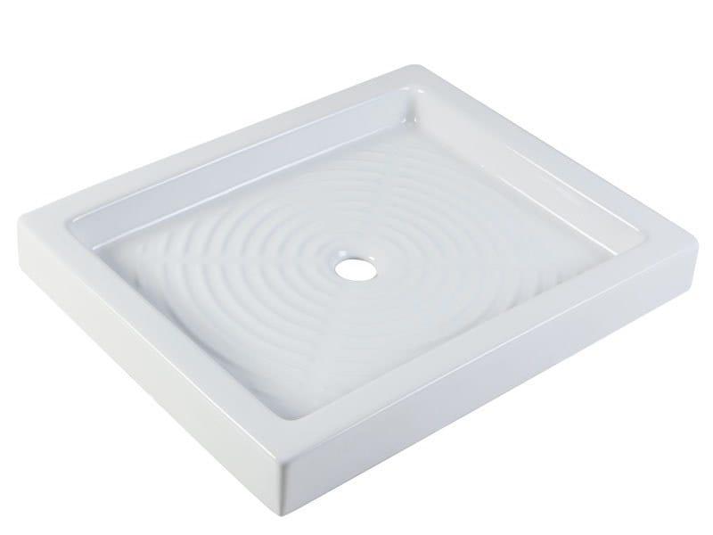 Rectangular porcelain shower tray STANDARD | Rectangular shower tray by Ponte Giulio