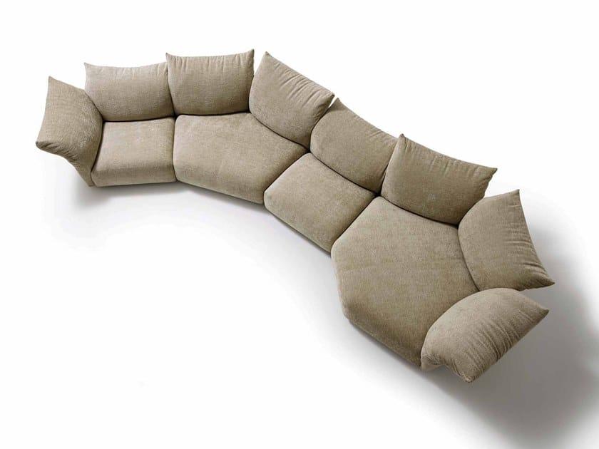 Sectional fabric sofa STANDARD by edra