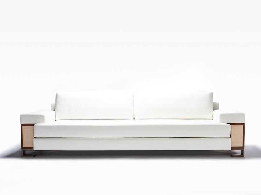 Leather sofa STANISLAS by HUGUES CHEVALIER